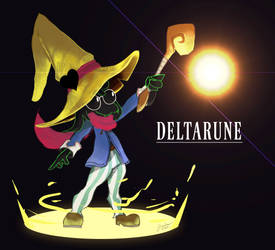 Final Fantasy IX x Deltarune Ralsei Fanart by QuartzStash
