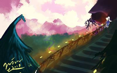 Mountain View [BG Study 1] by QuartzStash
