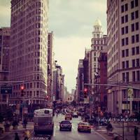 New York - Flatiron street by DarkSaiF