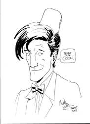 11th Doctor portrait by. Mike Collins by Mickey051089