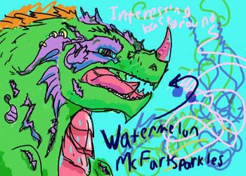 Watermelon McFartsparkles by Psychmage