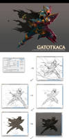 GATOTKACA - step by step by artupida