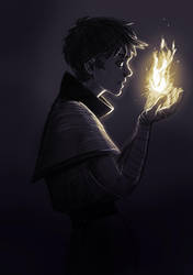 The Flame by Caerulai