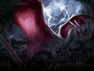 Thunder Dragon by Caerulai