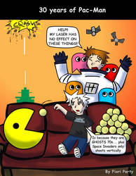 30 years of Pac-Man by fiori-party