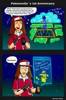 Pokemon Go 1st Anniversary by fiori-party