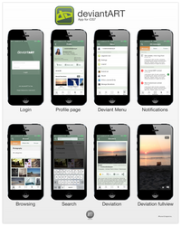 deviantART App for Apple iPhone (iOS7) by ARTIFACTdesign