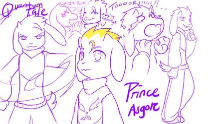 QuantumTale: PRINCE ASGORE! Doodlez~ by perfectshadow06