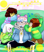 Undertale: All fun and Games(Babysitter!Sans) by perfectshadow06