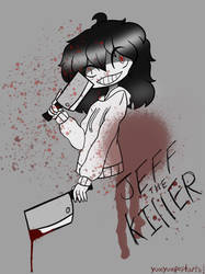 Jeff the killer fan art  by yumyumpoptarts