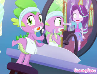 .: Oops! (Spike and Starlight Glimmer) :. by GamingGoru