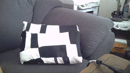 Patchwork Pillow of Socks by Electribird