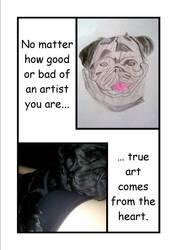 A Pug's Wisdom of Art by Electribird