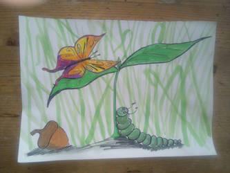 Green - Caterpillar by Dave851991