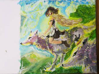 Princess Mononoke - Work in progress by Dave851991