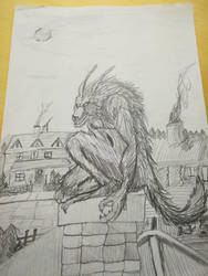Werewolf with pencil by Dave851991