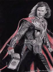 COMMISSION: God of Thunder by VilenH