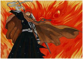 Drawing of Ichigo Kurosaki from anime Bleach by AlexKingART