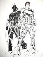 Future superman batman by grimmcj