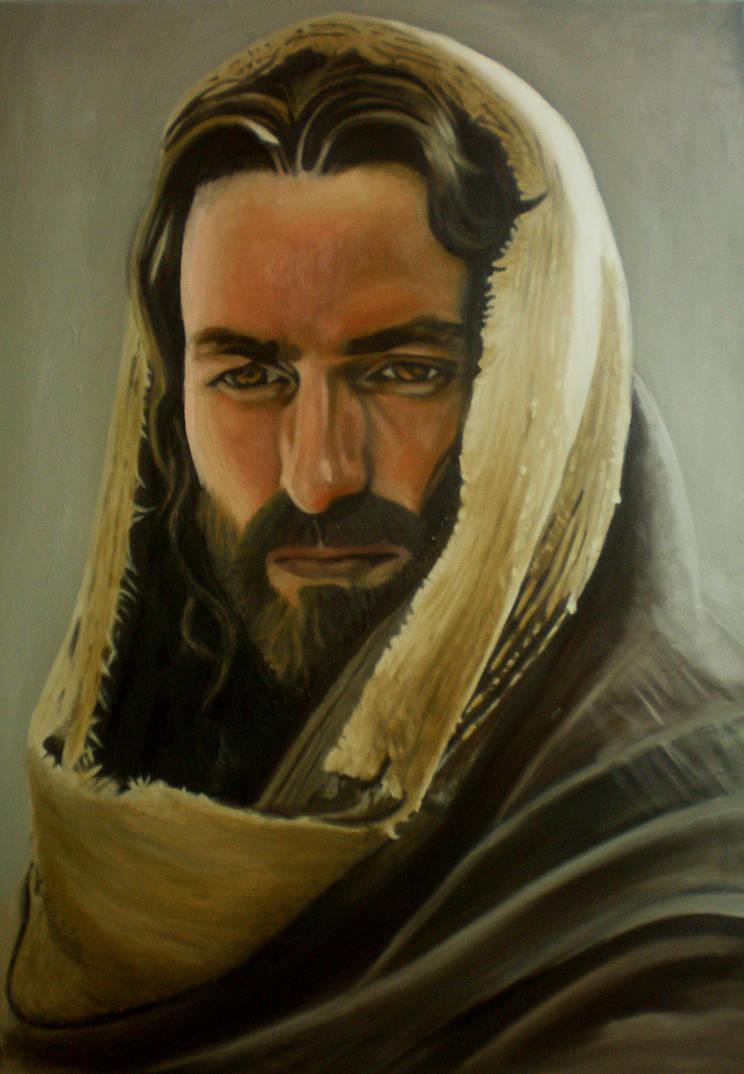 Jesus Christ Oil Painting On Canvas 70cm X 100cm By Romseskype On
