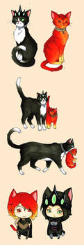 Cat Sauron and Morgoth by cheese-cake-panda
