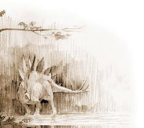 Stegosaur by melihturer