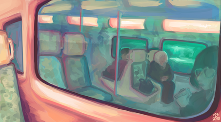 on the train by lotionthenightshade
