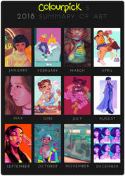 2018 Summary of Art by lotionthenightshade