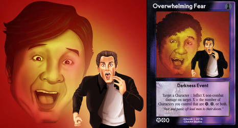 Overwhelming fear Card by castortroy3497