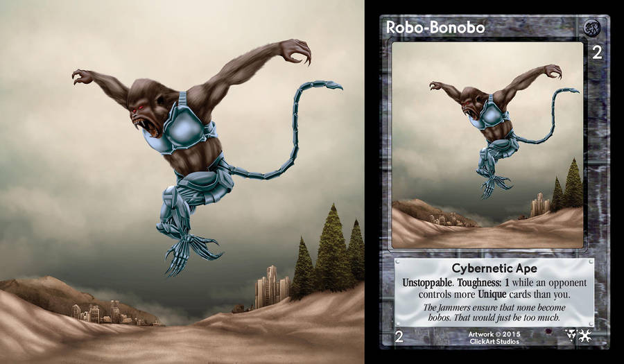 Robo Bonobo Card by castortroy3497