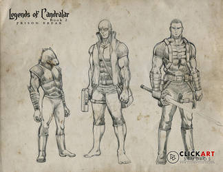 Razor, Batrachus and Ram by castortroy3497