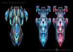 Cruiser Space Ships by castortroy3497