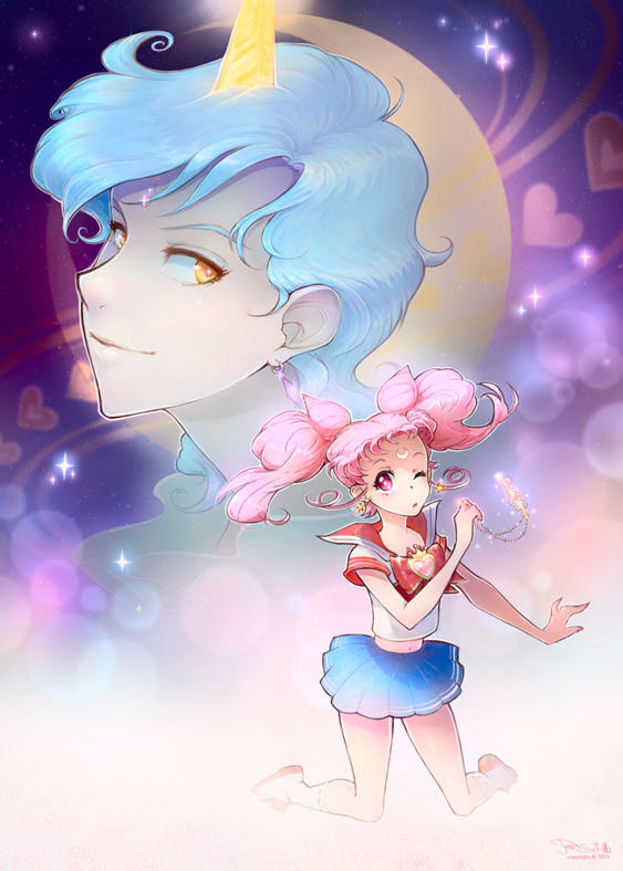 Chibiusa and Helios by Channel-Square
