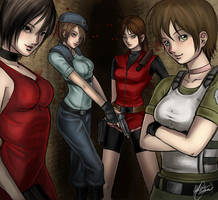Resident Evil - The Ladies by AkaiSoul