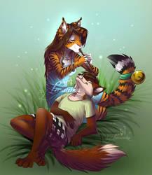 Tigress and fox comission by Imanika
