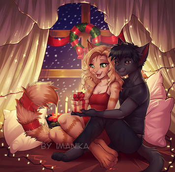 It's for you, dear - Christmas commission by Imanika