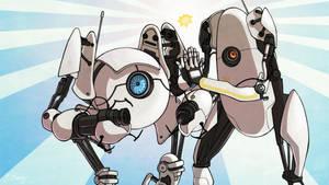 TNS: Portal 2 (Atlas + P-body) by ElizabethBeals