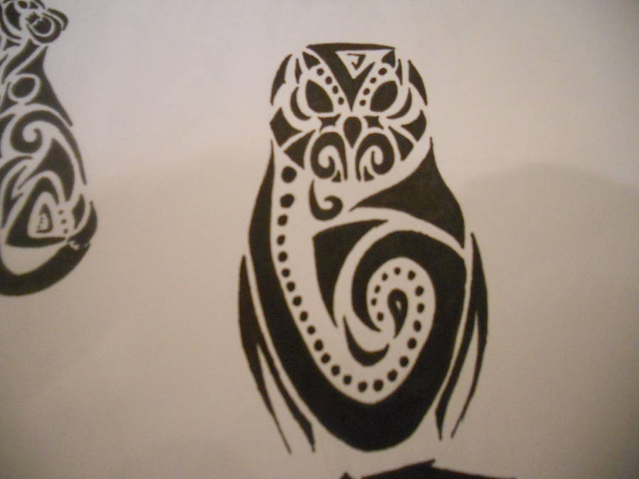 Tribal Barn Owl Tattoo By Mikaylamettler On Deviantart
