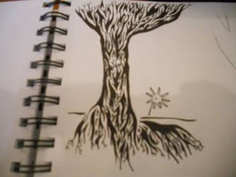 Tribal Tree by mikaylamettler
