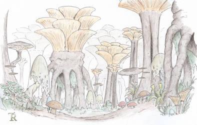 Mushroom forest by Tamriel-Rebuilt