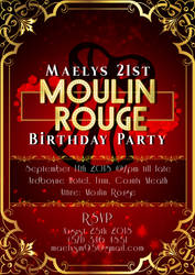 Moulin Rouge Invitation by jannezq