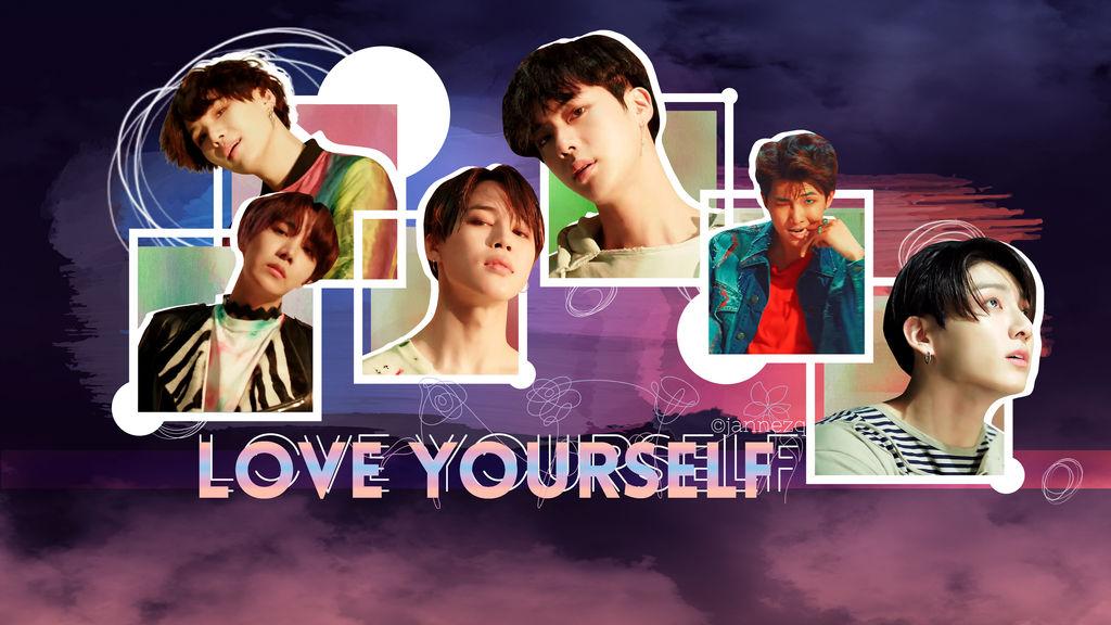 BTS Love Yourself Wallpaper by jannezq
