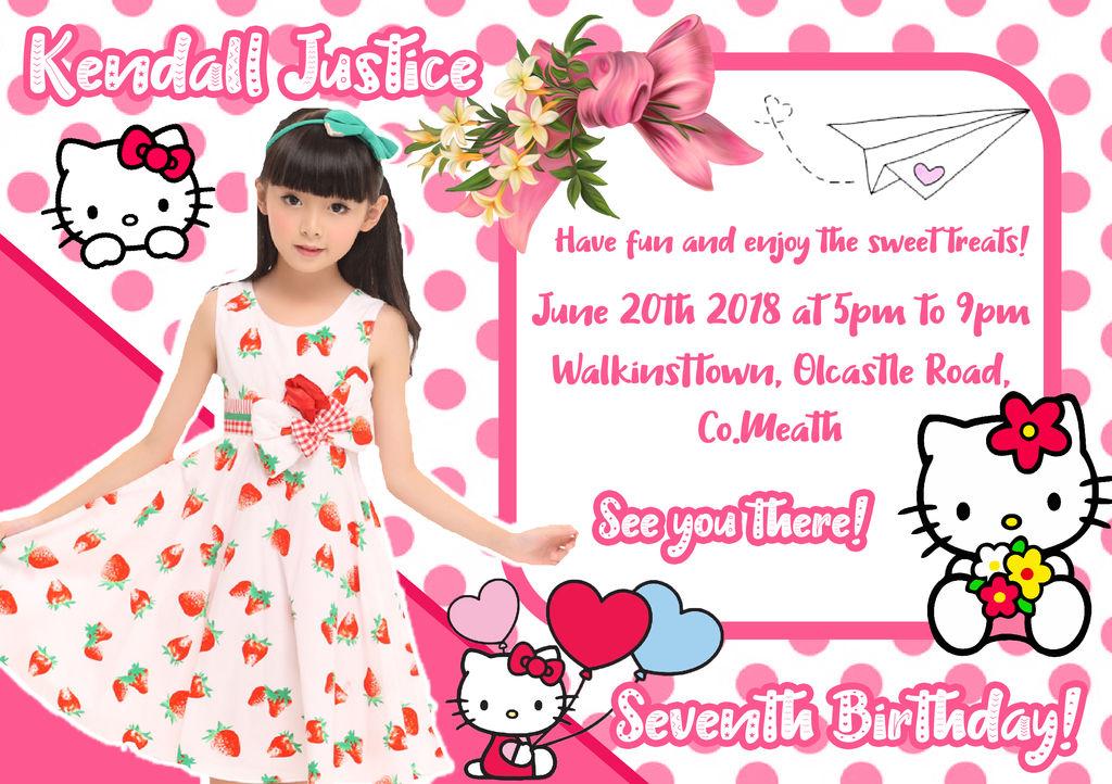 Hello Kitty Invitation by jannezq