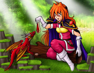 Lina and Her Dragon by FireBookDuo