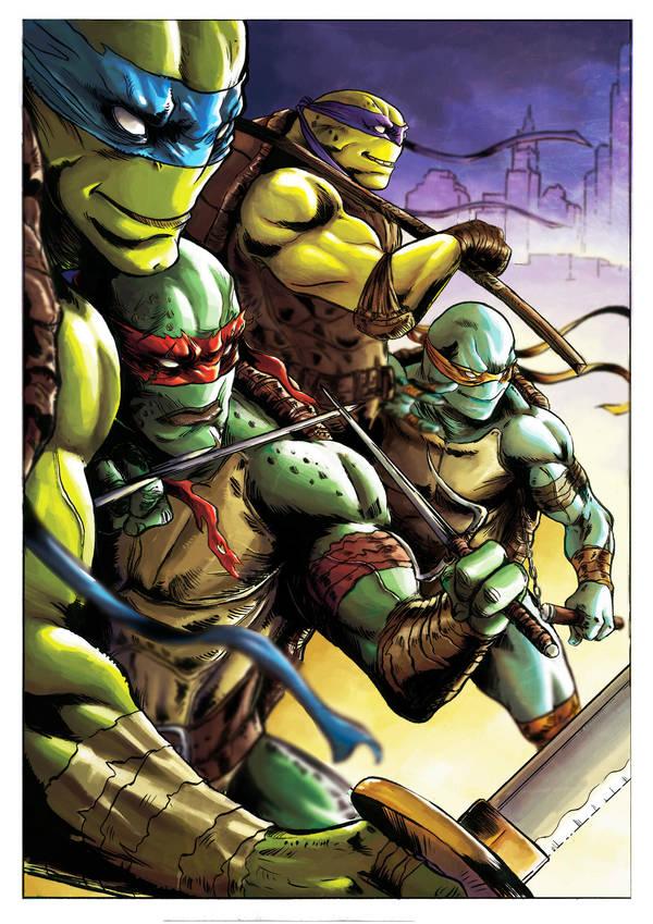 Teenage mutant ninja turtle color by dumbo972