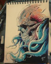 Tentacules Skull by dumbo972