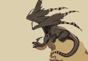 Dragon print - WIP by Hiyath