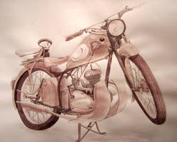 Moto ancienne by KitKid