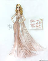 Blake Lively at the Met Gala by angelaaasketches