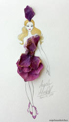 Flower Fashion 2 by angelaaasketches